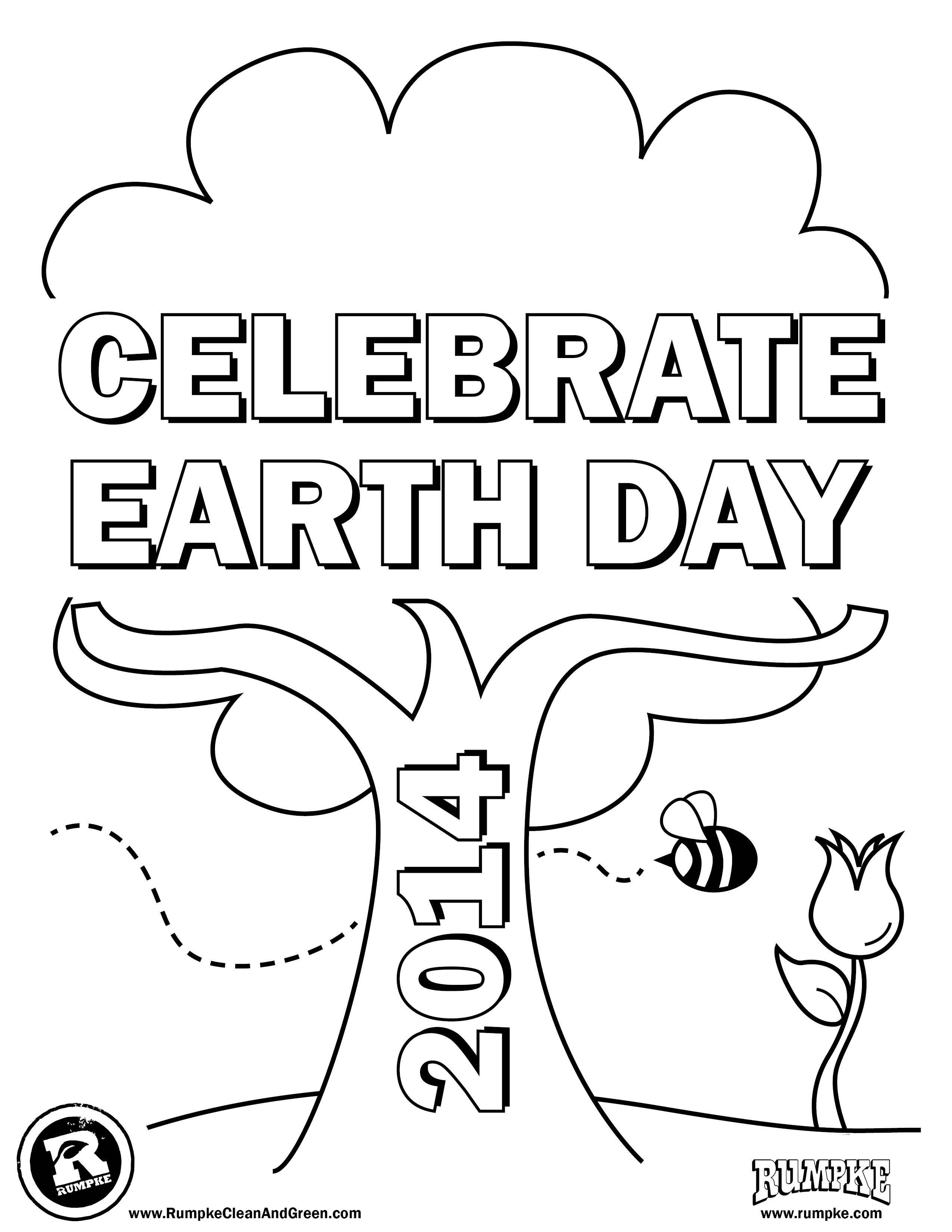 2550x3300 A Kinds Drawing About Earth Day Coloring Page