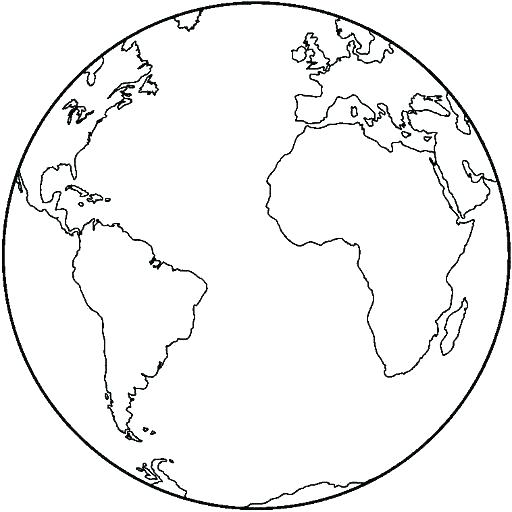512x512 Coloring Page Of The Earth
