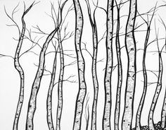 236x184 Tree Line Drawing Tree Line Art Tree Lineart For Background By