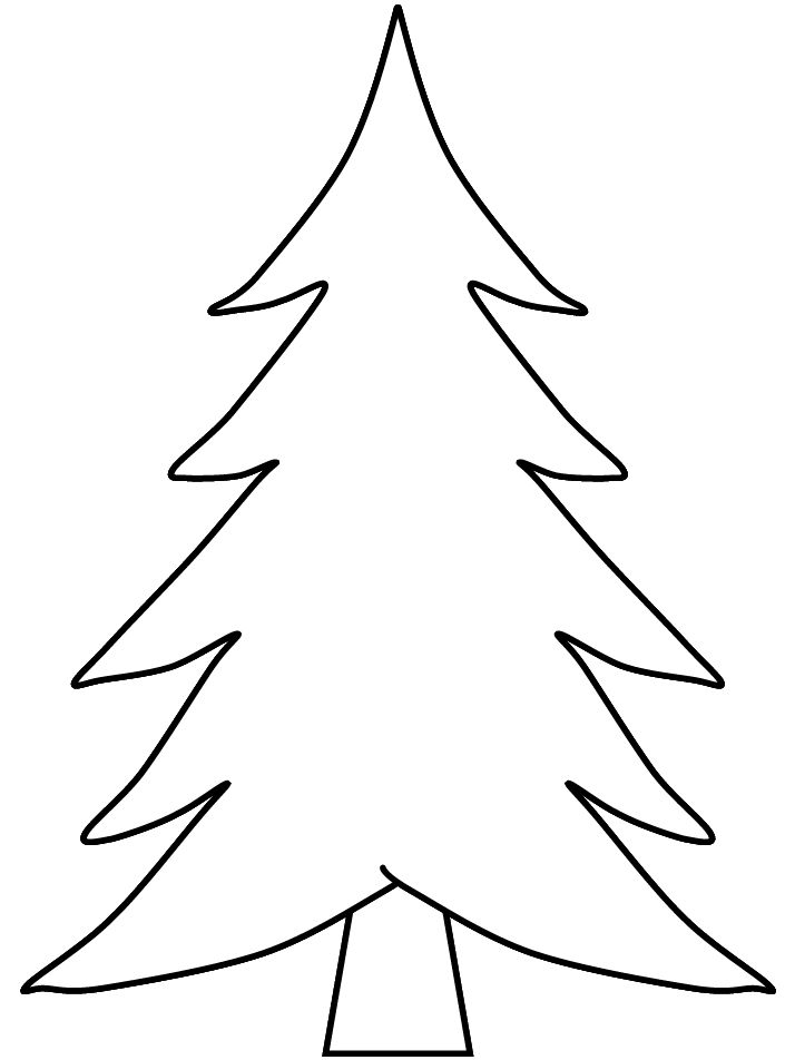 714x952 Collection Simple Christmas Tree Drawing Pictures