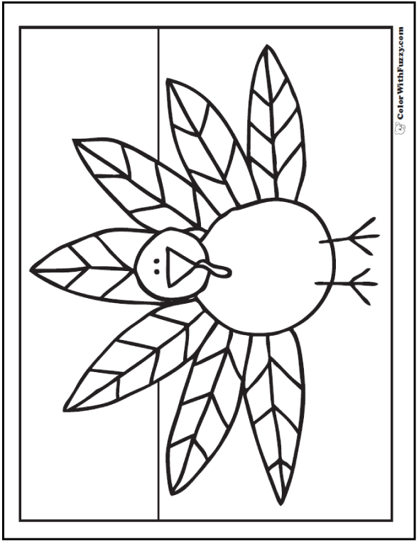 590x762 Turkey Coloring Pages Interactive Pdfs