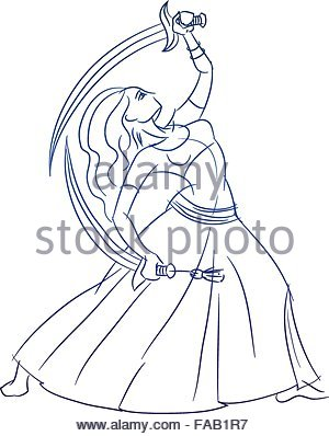 300x398 Belly Dancer Figure Gesture Sketch Line Drawing Stock Vector Art