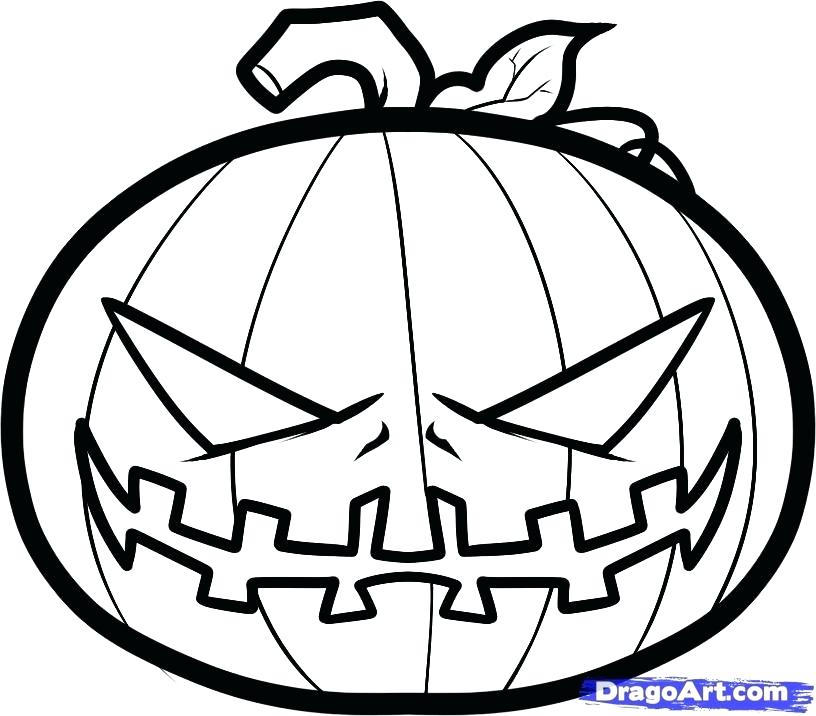 816x716 Pumpkin Drawing Pumpkin Pretty Halloween Pumpkin Drawing Step By