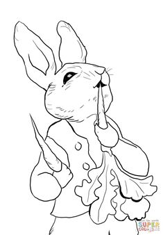 235x338 Simple Line Drawing Peter Rabbit