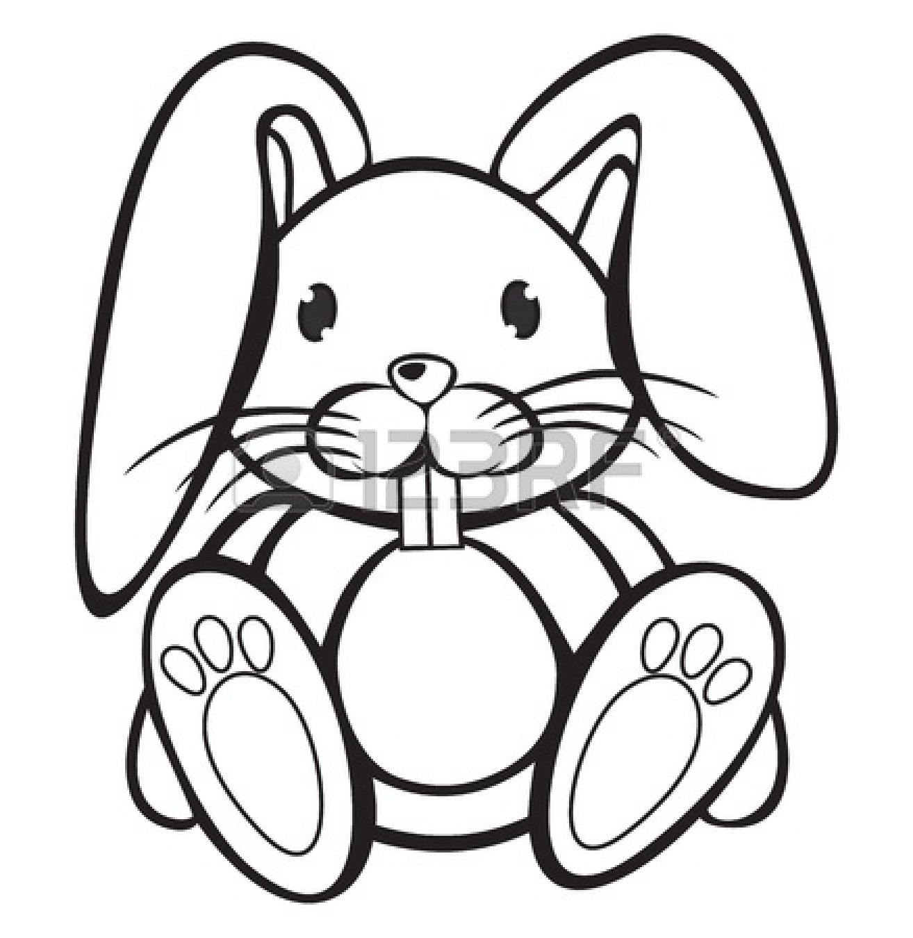 1314x1350 Bunny Clipart Line Drawing