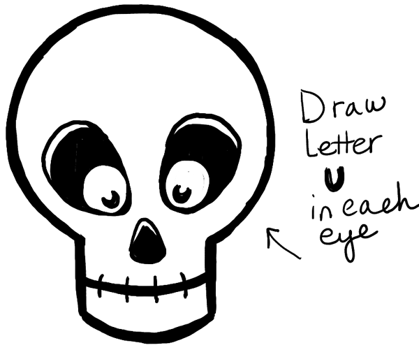 600x501 How To Draw Silly Cartoon Skulls Halloween Easy Tutorial