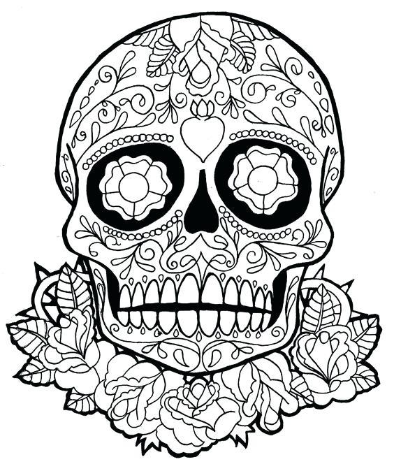 564x674 Coloring Pages Sugar Skulls Sugar Skull Owl Coloring Pages