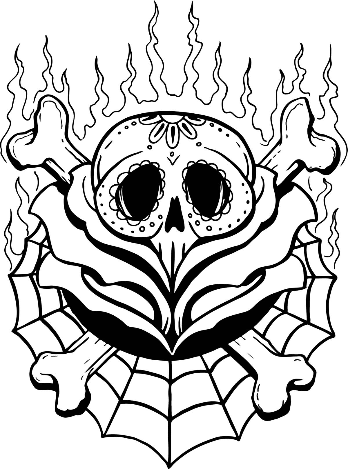 1200x1618 Bull Skull Line Drawing How To Draw Skull Tattoos Chainimage