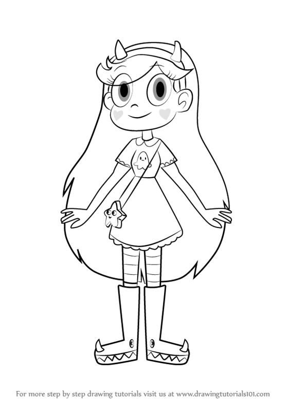 566x800 Learn How To Draw Star Butterfly From Star Vs. The Forces Of Evil