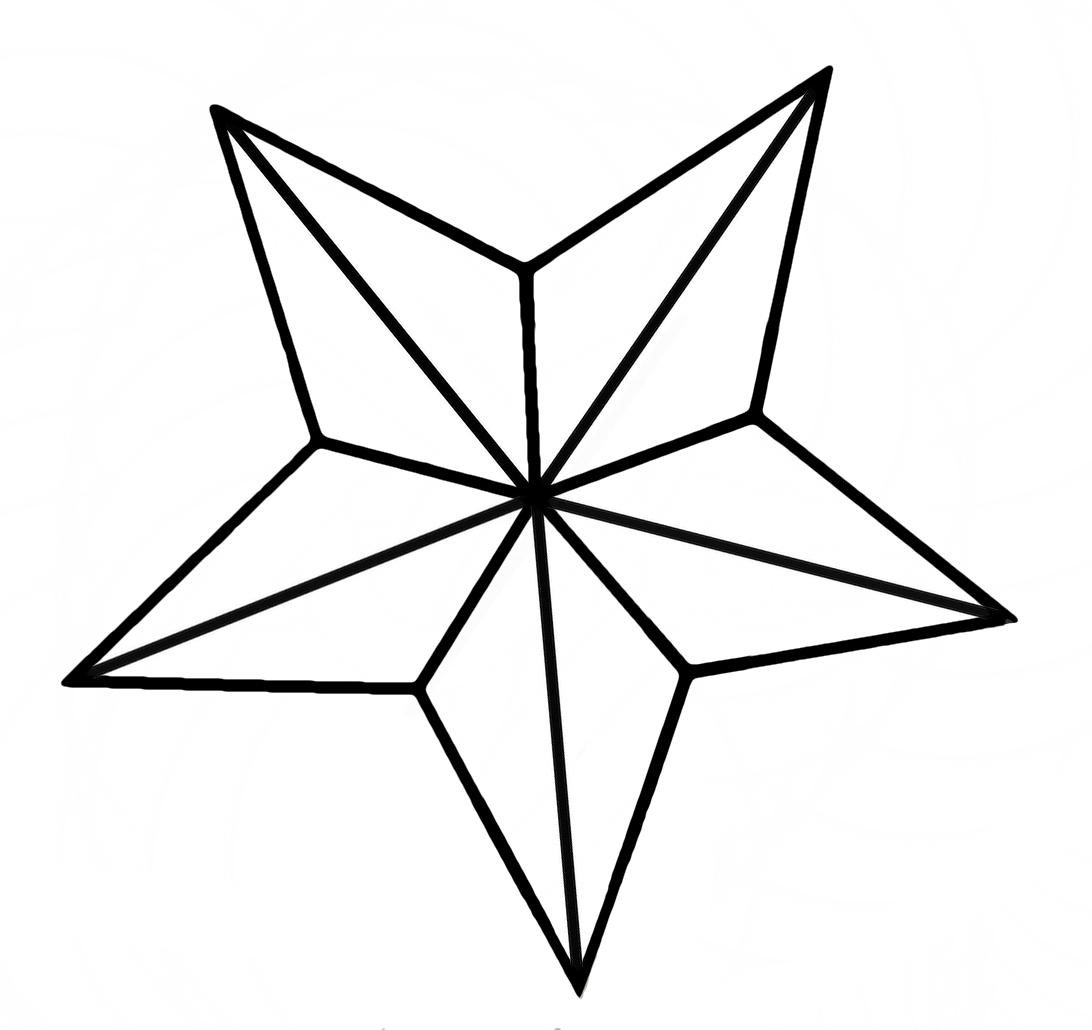 1092x1030 Nautical Star Drawings