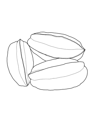 360x480 Star Fruit Coloring Page Free Printable Coloring Pages