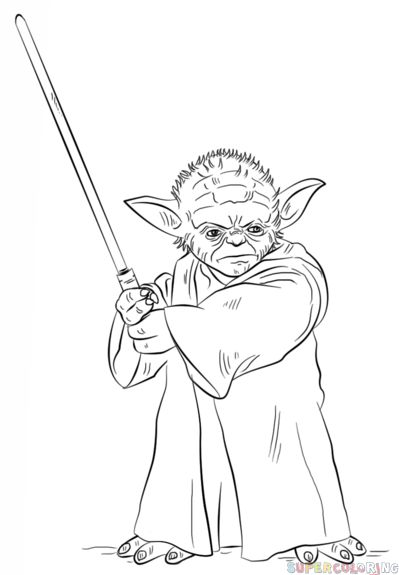 399x575 The Best How To Draw Yoda Ideas On Yoda Drawing