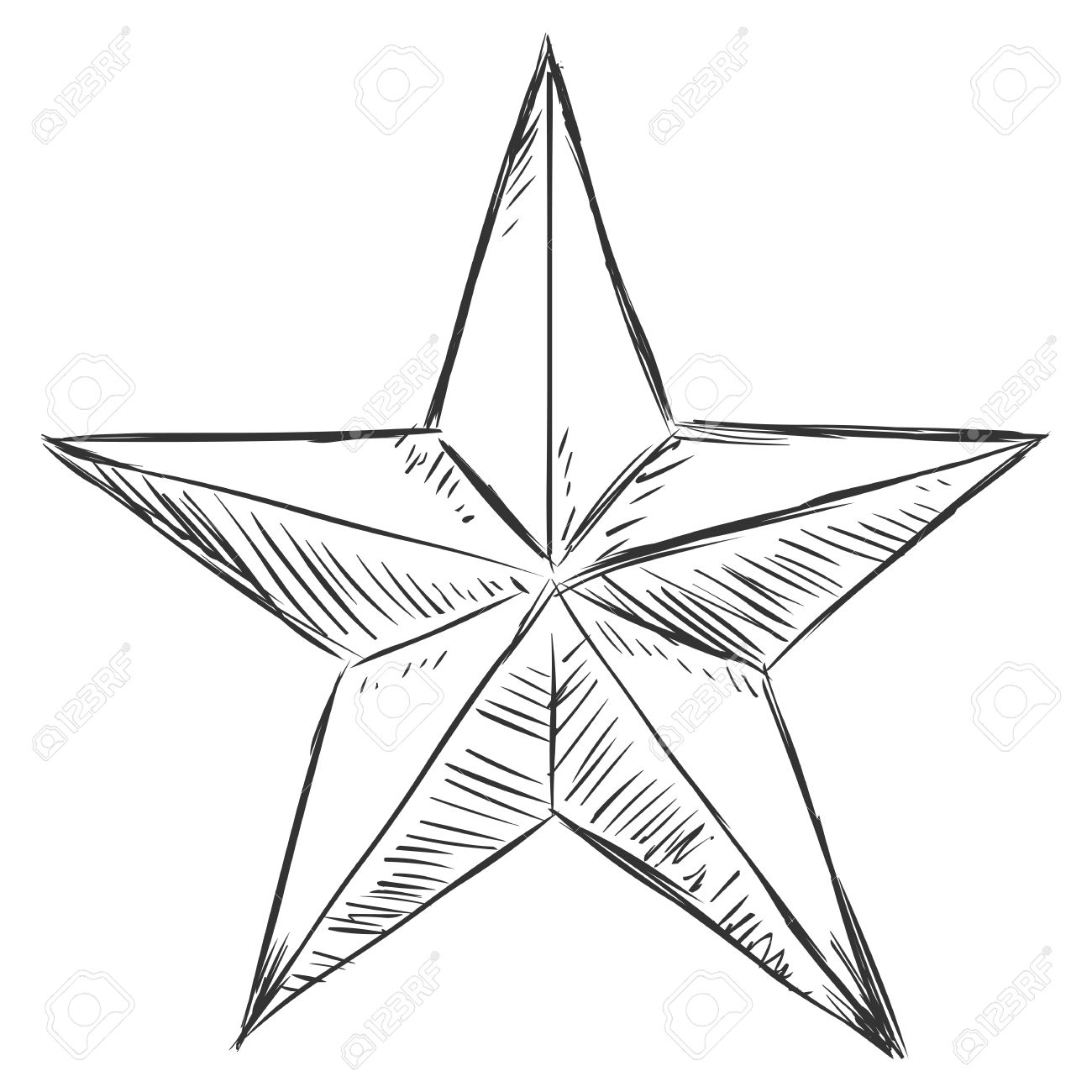1300x1300 Vector Sketch Star Royalty Free Cliparts, Vectors, And Stock