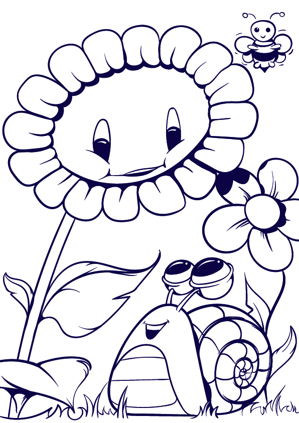 596x843 Learn How To Draw A Sunflower And A Snail