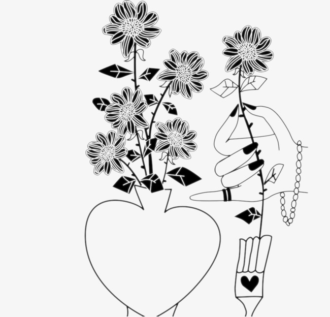 650x624 Mind Pictures, Line Drawings, Sunflower, Hand Png Image For Free