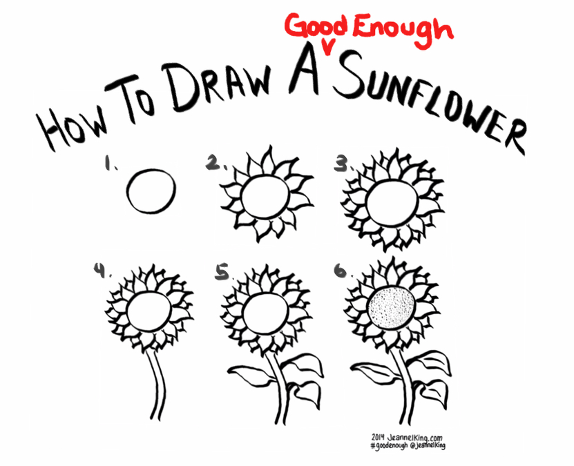 831x675 How To Draw A Good Enough Sunflower