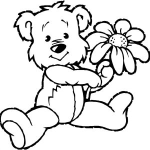 300x300 For Kids Download Teddy Bears Coloring Pages 80 About Remodel Line