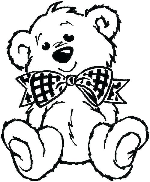 500x607 Free Teddy Bear Coloring Pages Printable Teddy Bear Coloring Pages