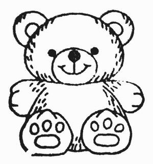 300x323 Gallery Teddy Bear Line Drawing,