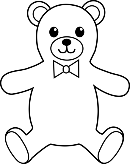 437x550 Line Drawing Teddy Bear