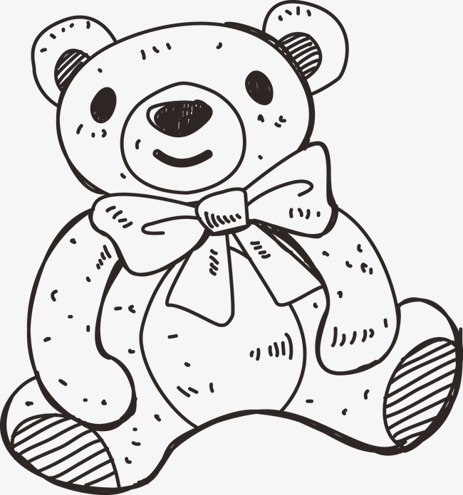 650x696 Bear, Cartoon, Sketch, Line Drawings Png And Vector For Free Download