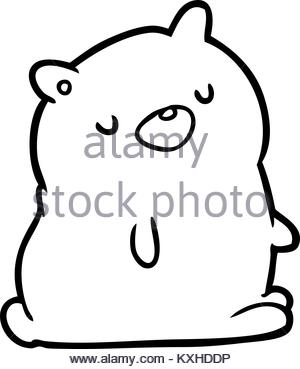 300x369 Line Drawing Of Teddy Bear Stock Vector Art Amp Illustration, Vector