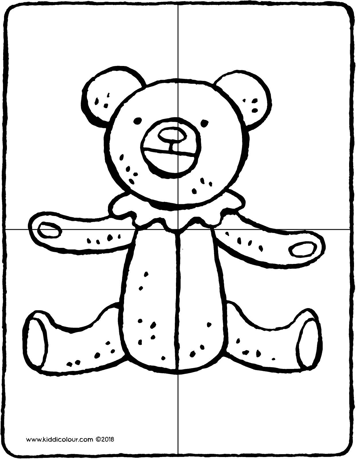 1240x1600 Make A Teddy Bear Puzzle