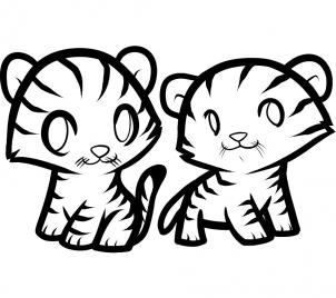 302x268 How To Draw How To Draw Tigers For Kids