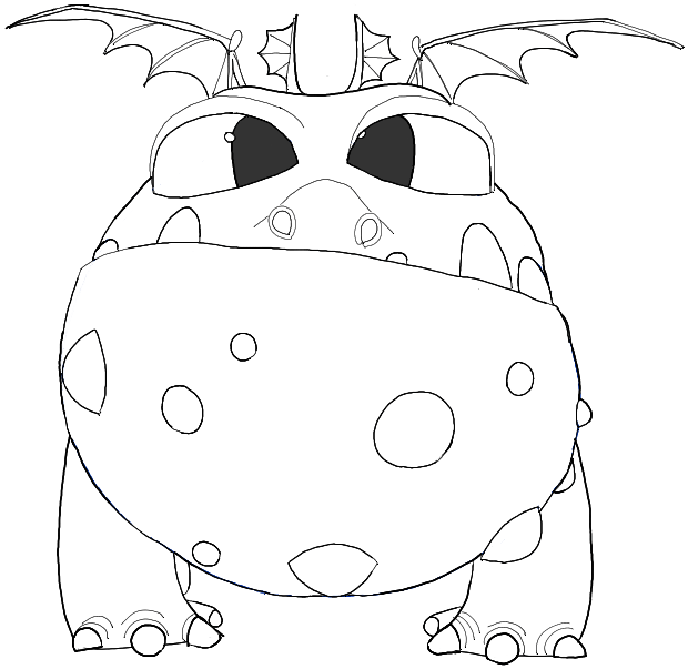 620x603 How To Draw Baby Gronckle From How To Train Your Dragon 2 In Easy