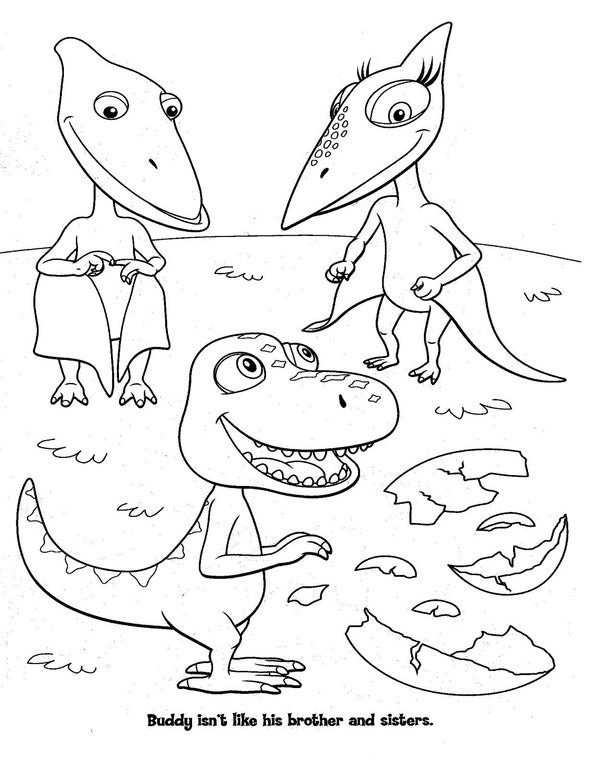 600x761 Amusing Dinosaur Train Coloring Pages 47 For Line Drawings