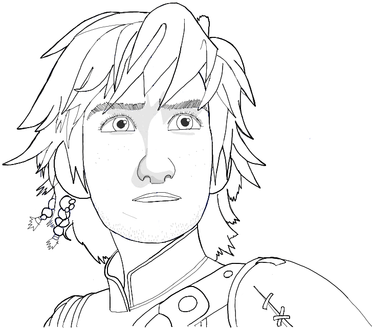 727x640 Black And White Line Drawing Of Hiccup From How To Train Your