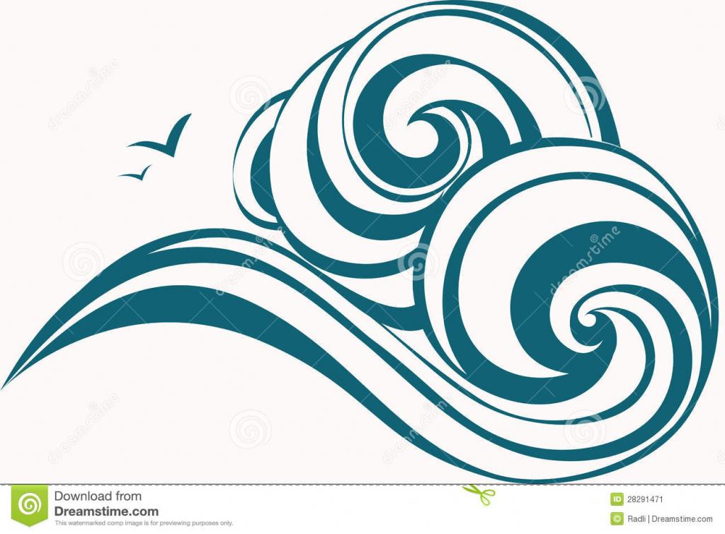 1024x755 Drawing Of Ocean Waves