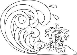300x213 Tsunami Clipart Image