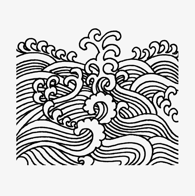 650x651 Vector Wavy Texture Black Line Classical, Vector, Waves, Texture