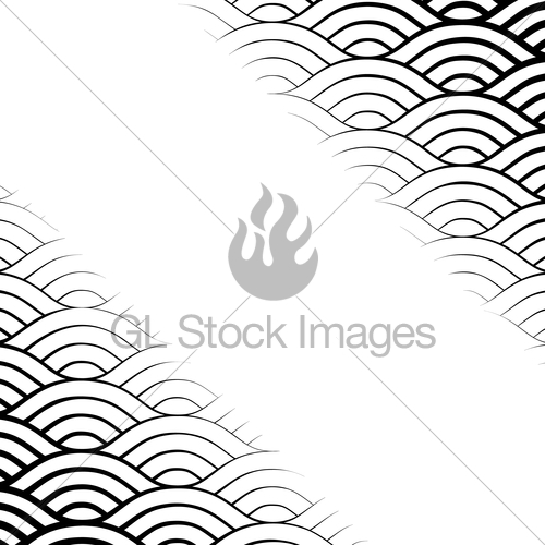500x500 Background With Abstract Line Waves Pattern And Thickness Gl