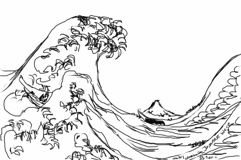 800x533 Art For The Joy Of It Japanese Wave Sketch