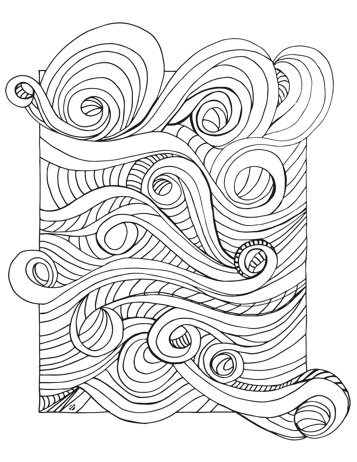 1236x1600 Wave Coloring Sheet