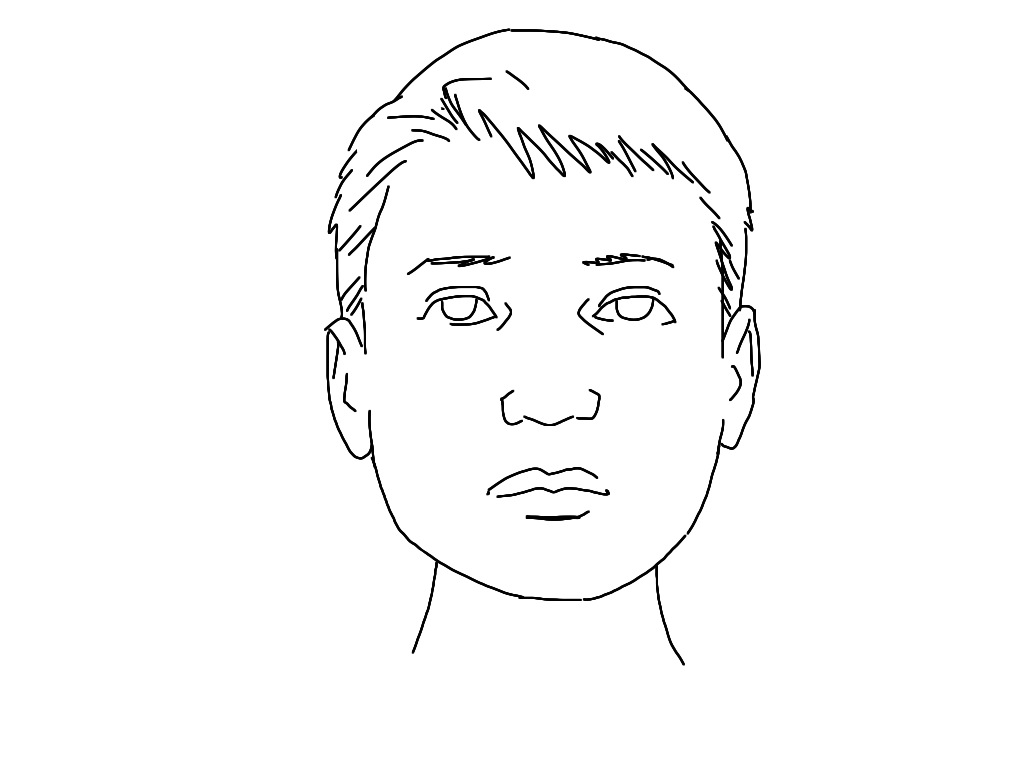 Line Face Drawing