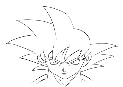 425x301 How To Draw Son Goku Face