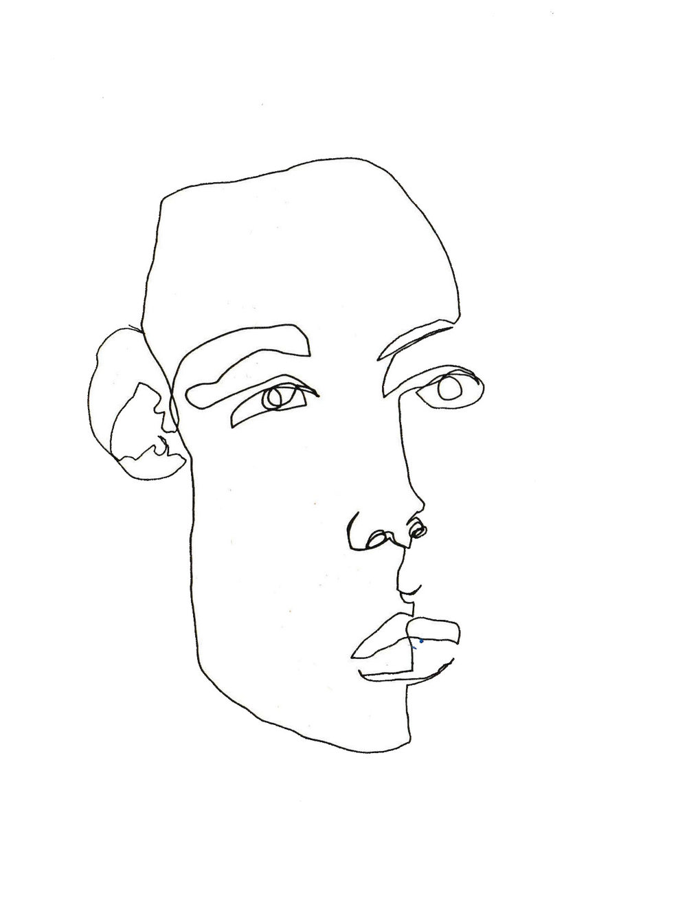 1000x1333 Blind Contour Line Drawing February James