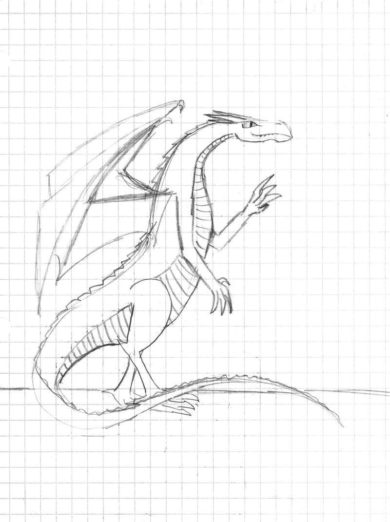 800x1071 Dragon Stretch Graph Paper By Aquabluejay