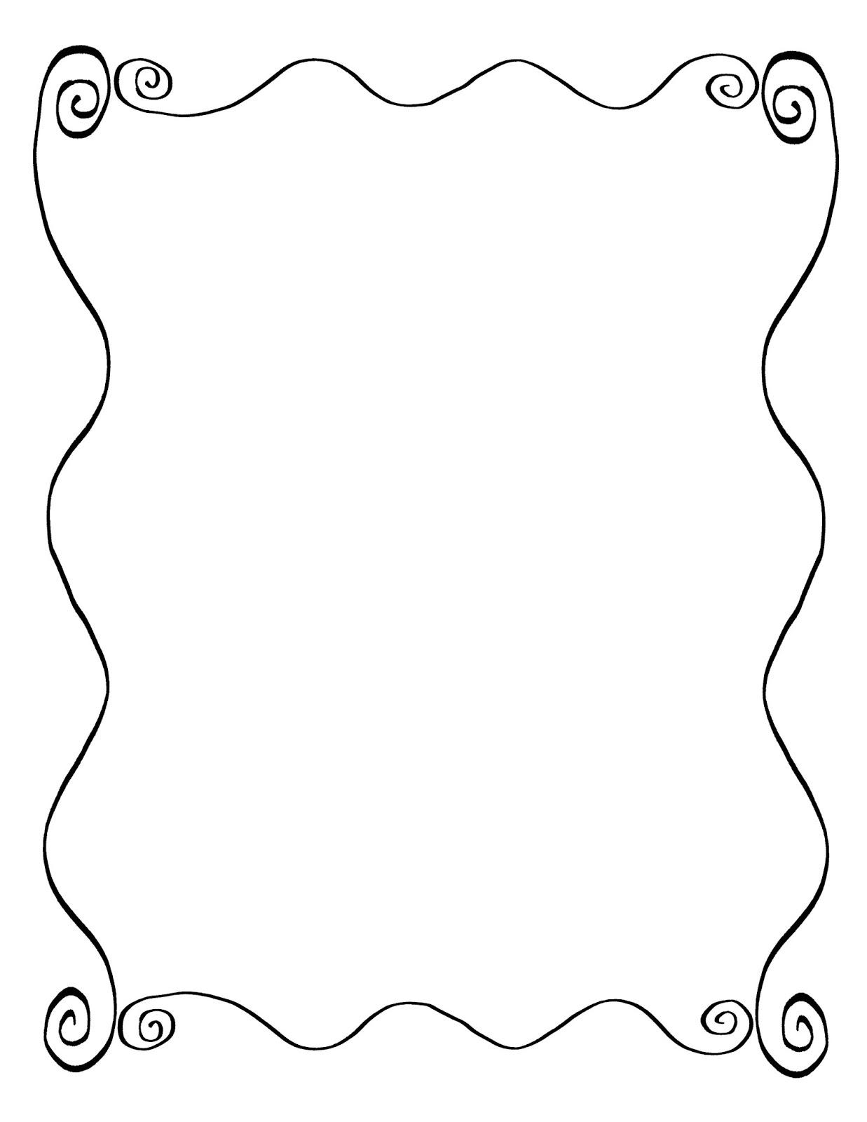 1237x1600 Digital Stamp Design Hand Drawn Decorative Frame Digital Wavy
