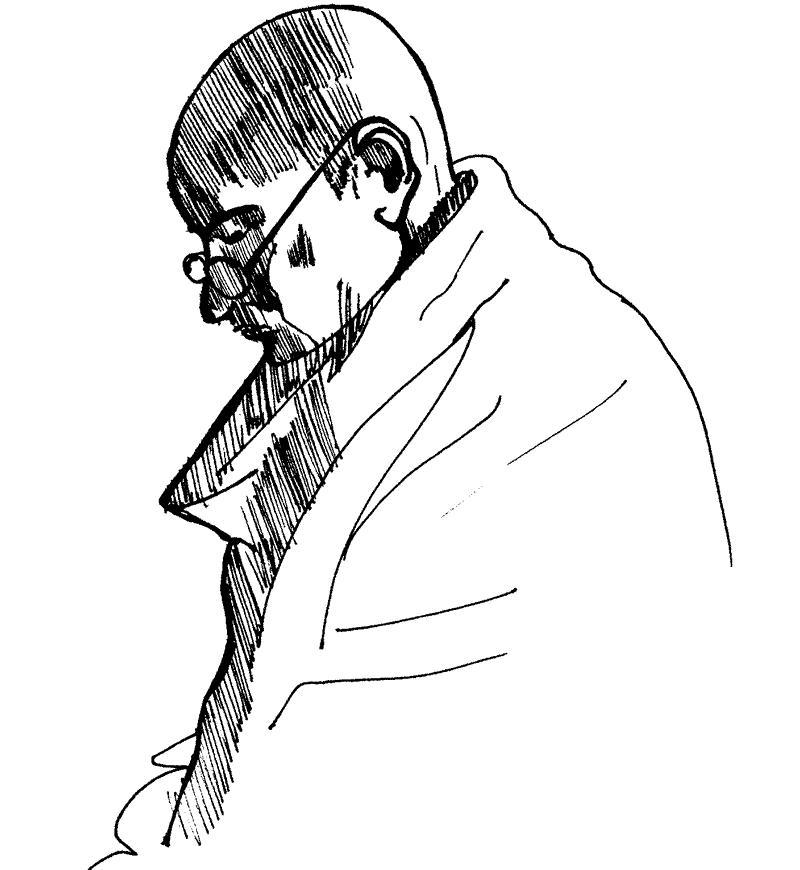 800x870 Sketches Of Mahatma Gandhi My World My Blog