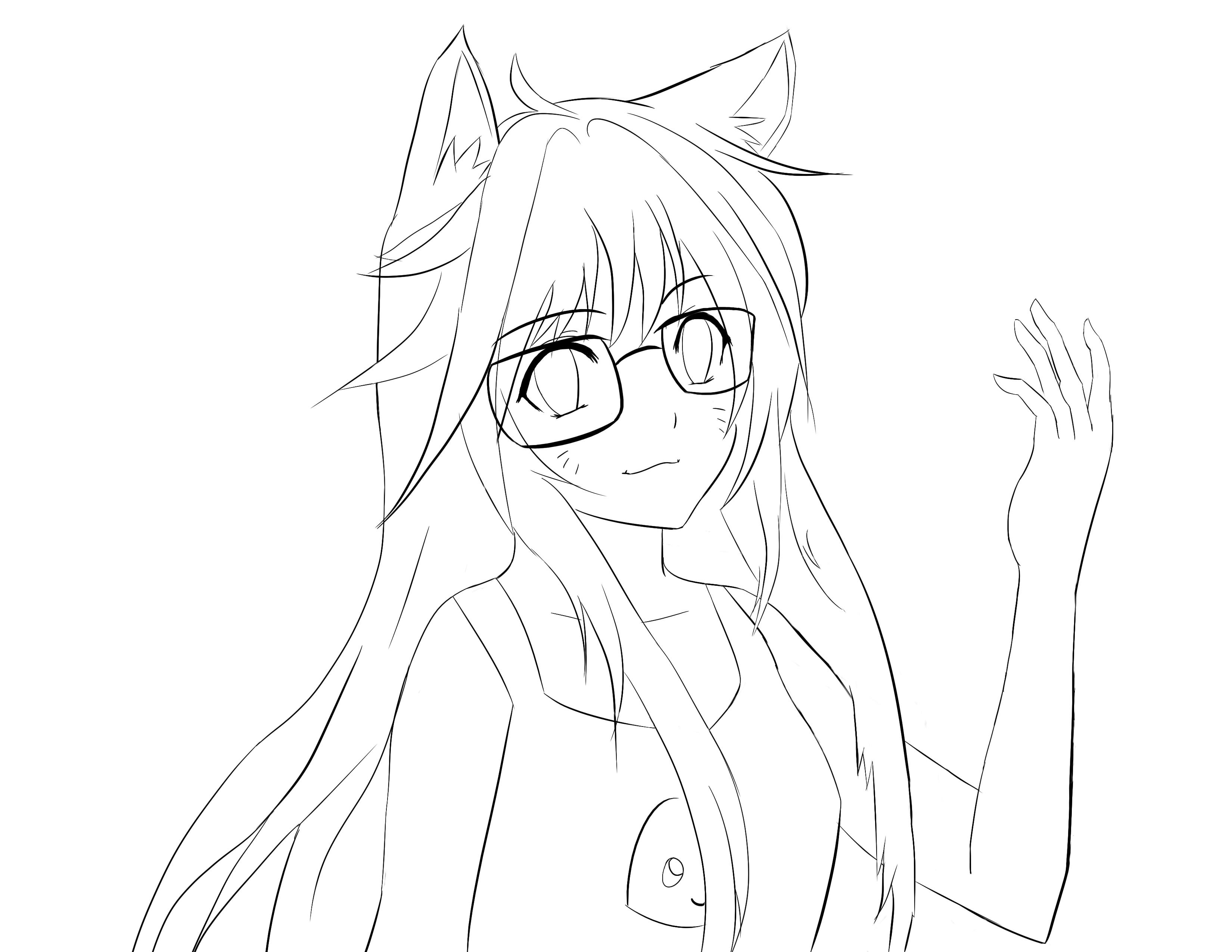 3300x2550 Drawing Of A Friend + Ahri Lineart By Zeroxpoint