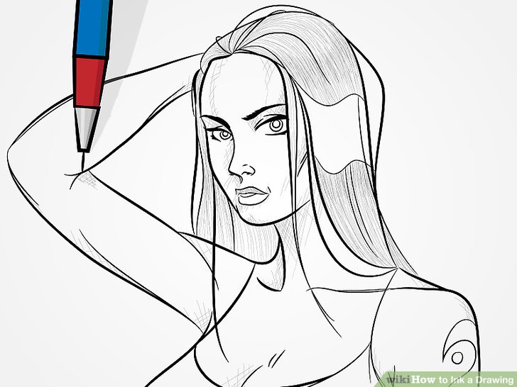 728x546 How To Ink A Drawing 14 Steps (With Pictures)