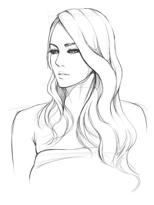 517x690 Line Art Drawings Ausmalbilder Portrait Art
