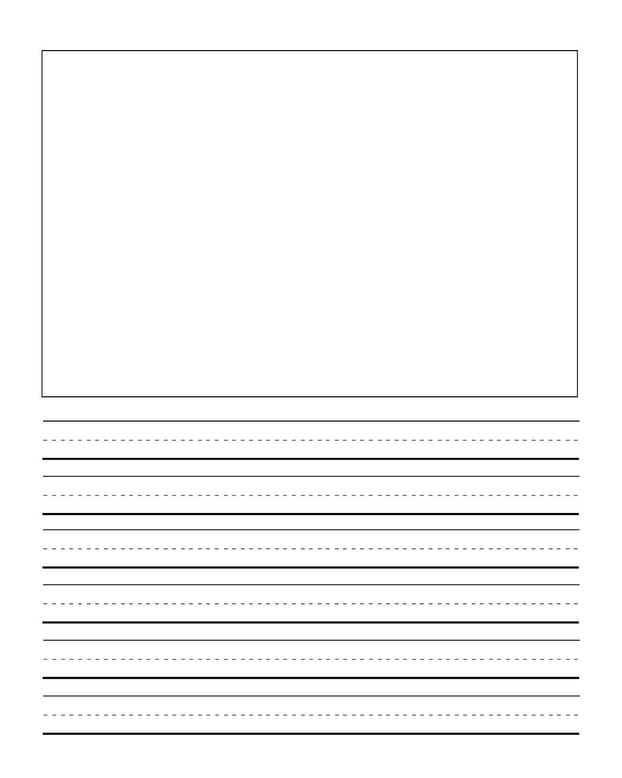 1280x1600 Free Primary Writing Papers Both With Picture And All Lines
