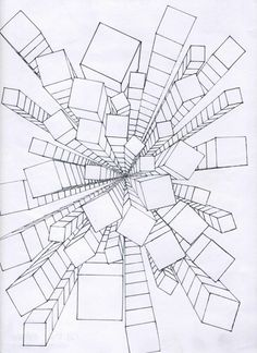 236x324 One Point Perspective. One Vanishing Point Is Typically Used