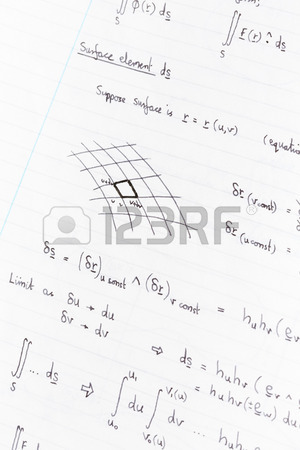 300x450 Surface Integration Equations And Diagram For Physics Handwritten