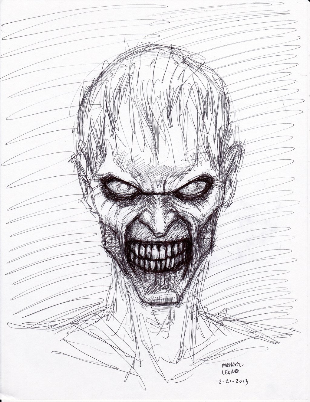 1024x1329 Zombie drawings in pencil Zombie Pen Sketch 2 21 2013 By